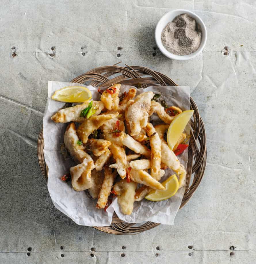Calamares a la sal y pimienta