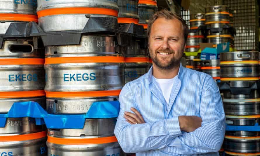 Rich Craig, cofundador de Big Smoke Brew Co en Esher, Surrey.
