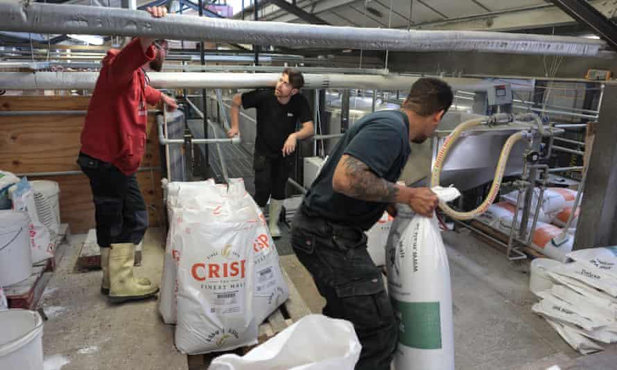 El personal de Gipsy Hill Brewery en Norwood, al sur de Londres, está trabajando arduamente para cumplir con la demanda y los plazos de la nueva cerveza.
