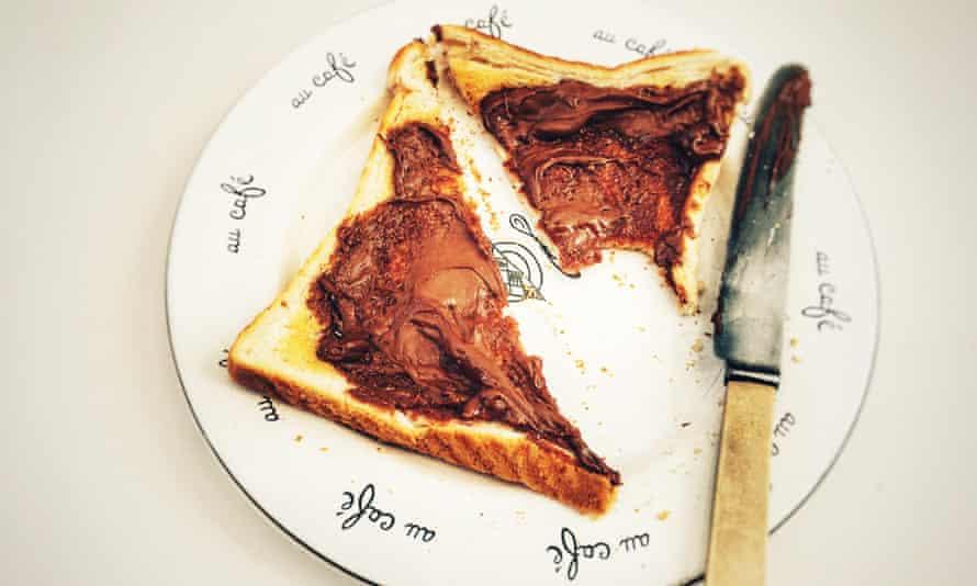 Tostadas de Nutella
