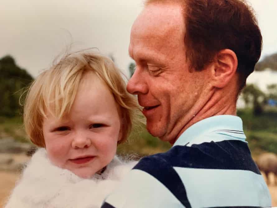 Clare Finney y su padre