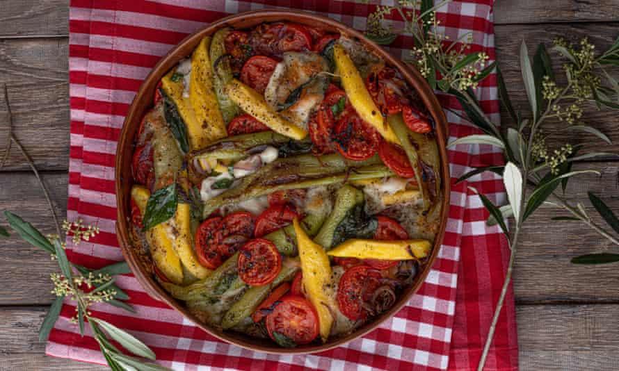"""""""Pudo haber sido el evento principal"""": polenta y pimientos."""