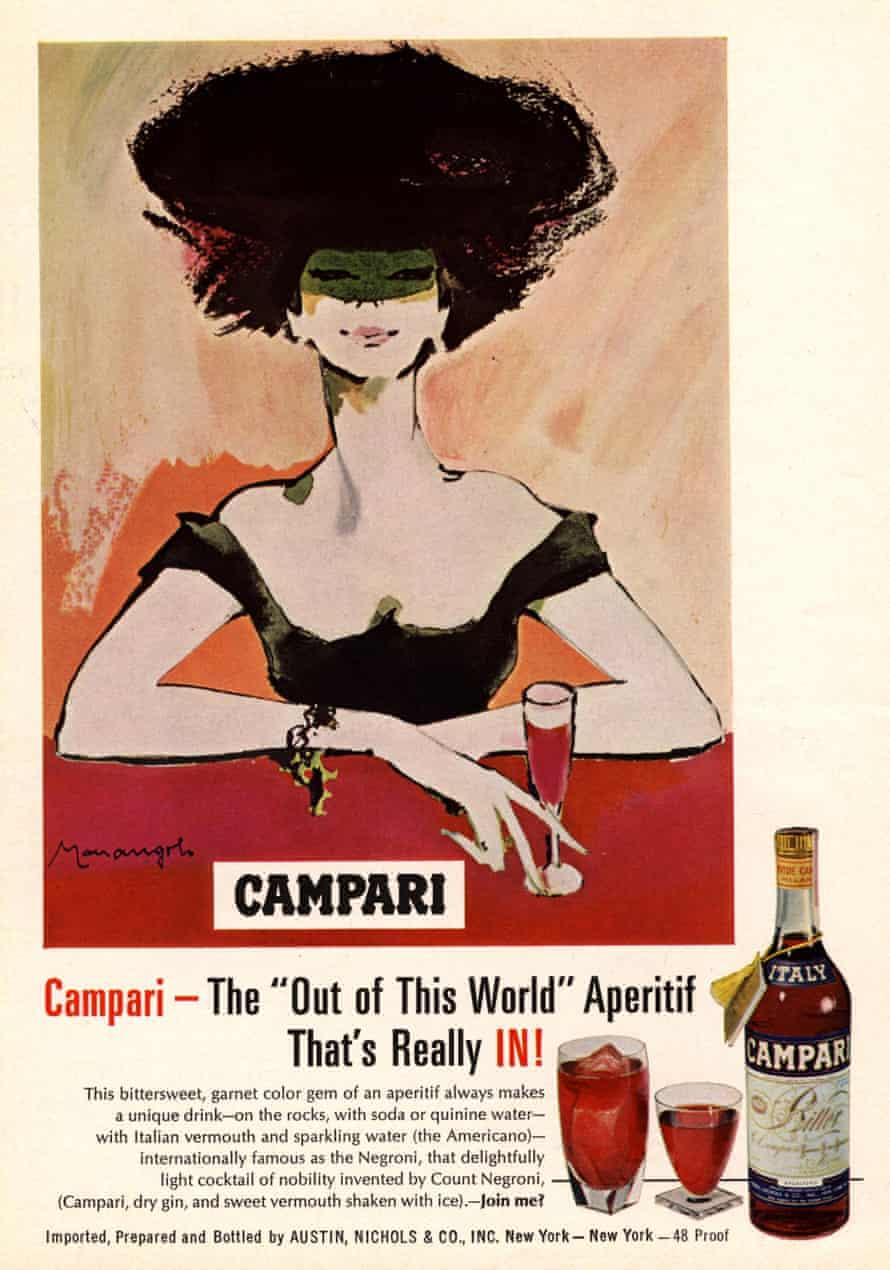 Un anuncio de Campari de la década de 1960