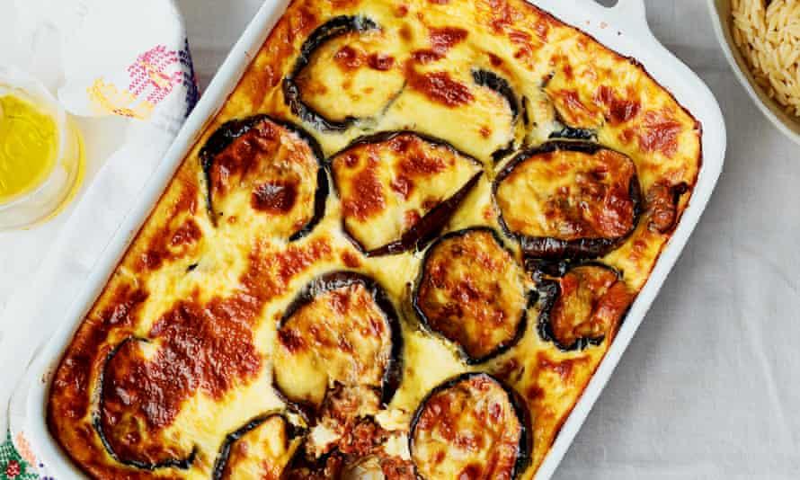 Moussaka con verduras.