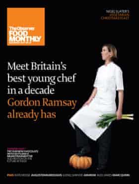 Clare Smyth en la portada de OFM en diciembre de 2007.